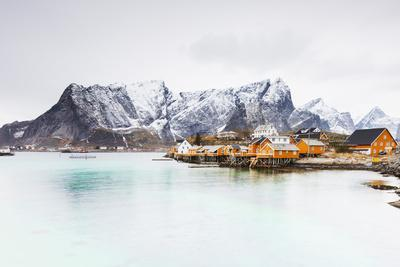 Sakrisoy, Moskenesoy, Lofoten Islands, Norway, Scandinavia, Europe