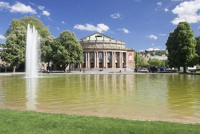 Opera House, Eckensee Lake, Schlosspark, Stuttgart, Baden-Wurttemberg, Germany