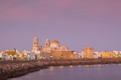 Church of Santa Cruz and Cathedral, Cadiz, Cadiz Province, Andalucia, Spain, Europe