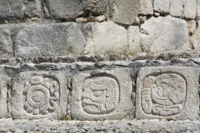 Stone Carved Hieroglyphs, Structure of Five Floors (Pisos), Edzna