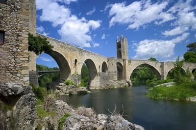The Romanesque Bridge, Besalu, Catalonia, Spain