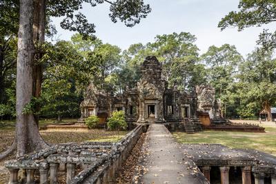 Ruins of the Chau Say Tevoda Temple, Angkor, UNESCO World Heritage Site, Cambodia, Indochina