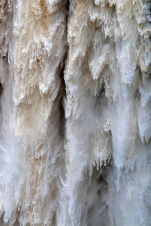Detail of Water Falling from Kaieteur Falls, Guyana, South America