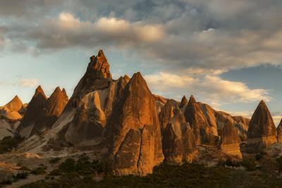 Volcanic Desert Landscape and its Fabulous Geographical Structures Caught in Evening Light