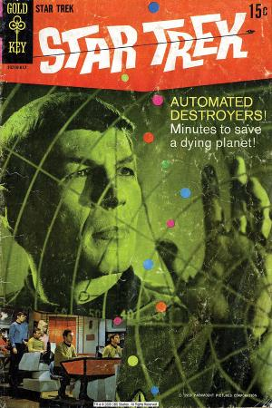 Star Trek: The Original Series Cover, Mr Spock and Automated Destroyers