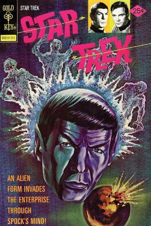 Star Trek: The Original Series Illustrated Cover, Alien Invades Enterprise Through Spock's Mind!