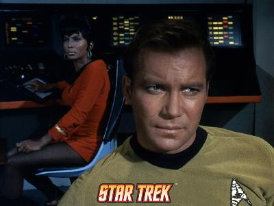 Star Trek: The Original Series, Captain James T. Kirk and Uhura in Background