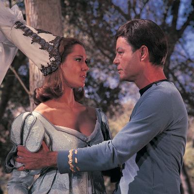 "Star Trek: The Original Series, Dr. McCoy and Yeoman Barrow on ""Shore Leave"""