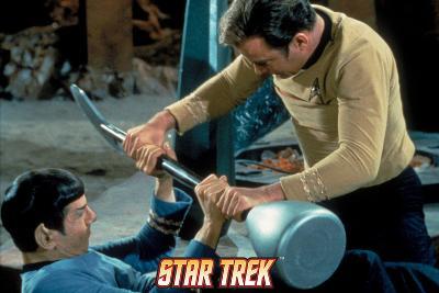 "Star Trek: The Original Series, Spock and Captain Kirk Battle in ""Amok Time"""