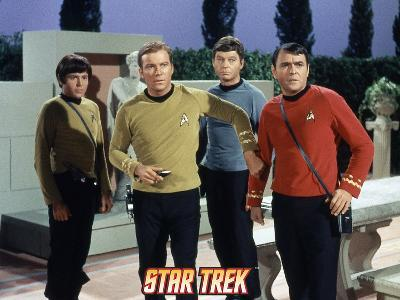 "Star Trek: The Original Series, Captain Kirk, Scotty and Dr. McCoy in ""Who Mourns for Adonais?"""