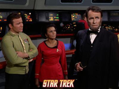 """Star Trek: The Original Series, Captain Kirk, Uhura and a Visage of Lincoln in """"The Savage Curtain"""""""