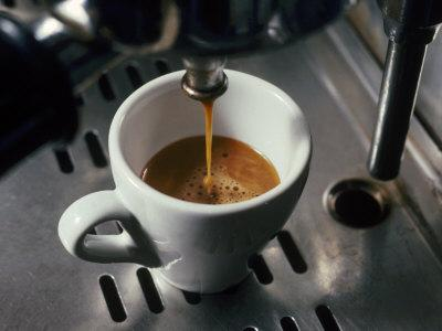 Machine Pouring Cup of Espresso