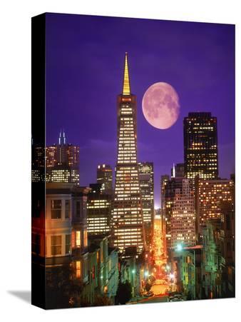 Moon Over Transamerica Building, San Francisco, CA