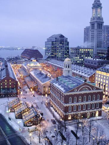 quincy market  faneuil hall  boston  ma photographic print