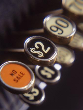 Close-up of Cash Register Keys