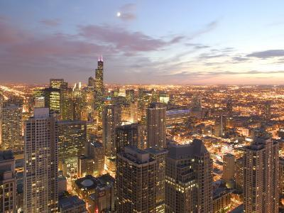 Aerial View of the Loop, Chicago, IL