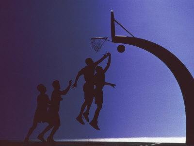 Silhouette of Basketball Players