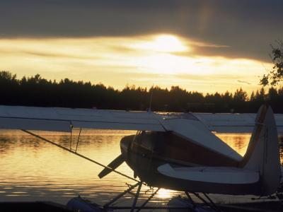 Backlit Floatplane, AK