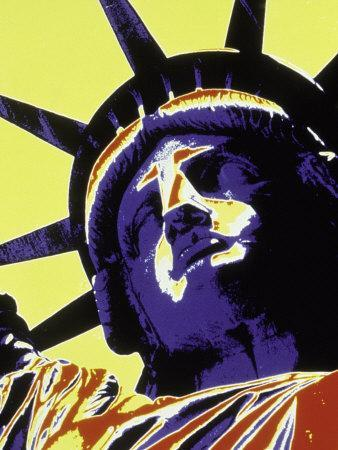 Abstract of Statue of Liberty, NYC