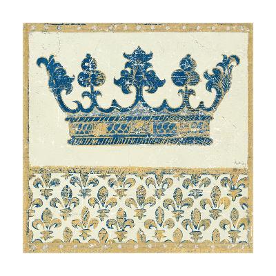 Regal Crown Indigo and Cream