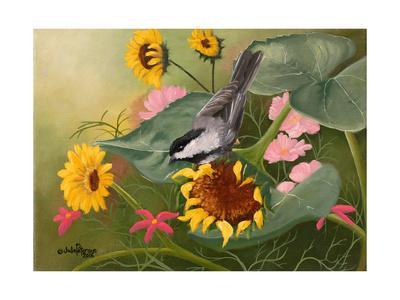 Chickadee and Sunflowers