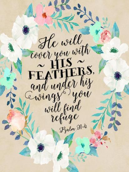 Psalm 91 4 Wreath Prints By Tara Moss At Allposters Com