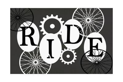 Black and White Typography - Ride