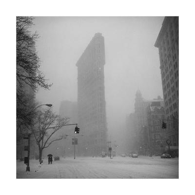 Flat Iron Building, Blizzard - New York City Iconic Building