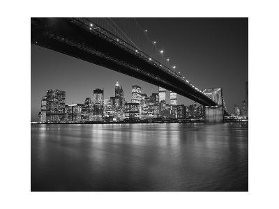 Under the Brooklyn Bridge - Lower Manhattan at Night