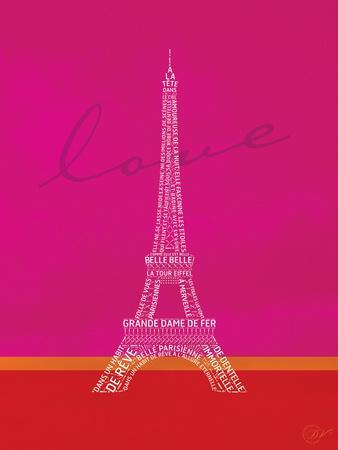 Love Paris - Pink and Red