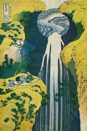 The Waterfall of Amida Behind the Kiso Road, C1832. (1925)