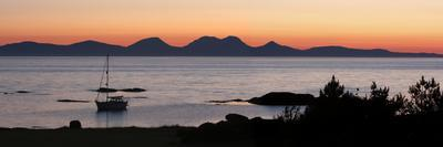 Sunset over Jura Seen from Kintyre, Argyll and Bute, Scotland