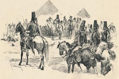 Napoleon Buonaparte at the Battle of the Pyramids, 1798, (1884)