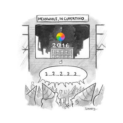 Meanwhile, in Cupertino - Cartoon