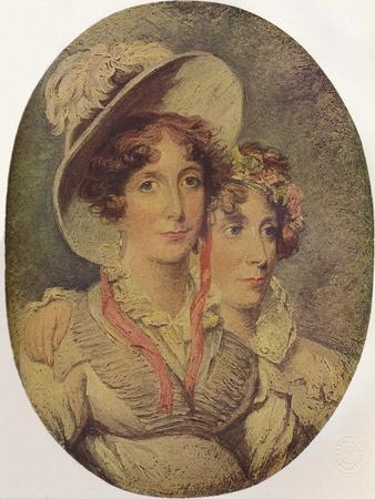 Princess Amelia of Brunswick and Her Daughter Princess Charlotte, 1919
