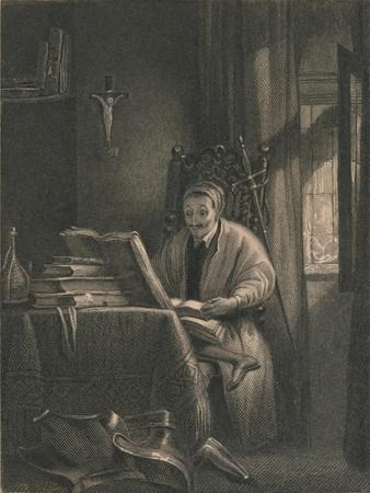 Don Quixote in His Study, 1831
