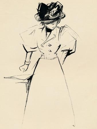 Study in Indian Ink by Forain, C1898