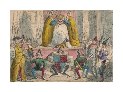 Coronation of Henry the Fourth (From the Best Authorities), 1850