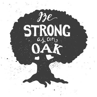 Oak Lettering Poster