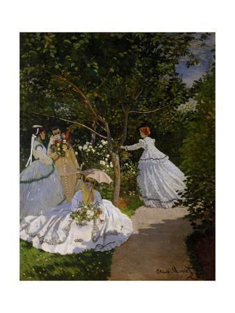 Women in the Garden at Ville D'Avray, 1867
