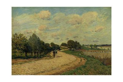 The Road of Mantes, 1874