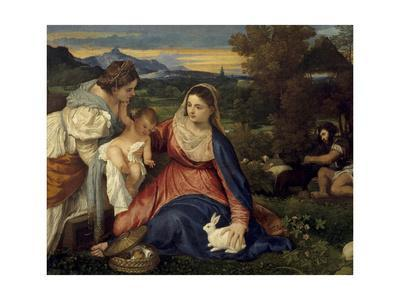 Madonna and Child with St. Catherine, (The Virgin with the Rabbit)