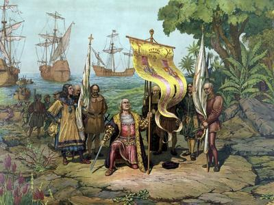 Christopher Columbus Taking Possession of the New Country