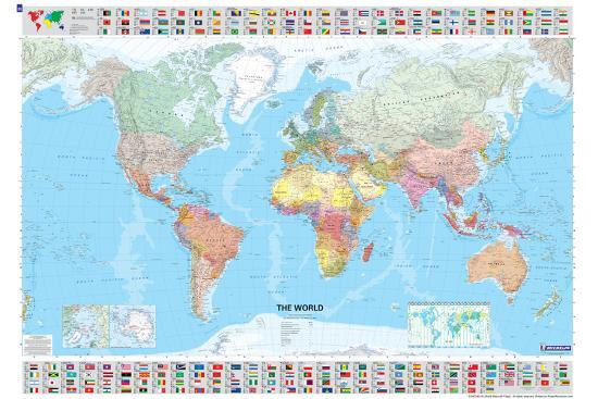 Map Of World Flags.Michelin Official World Map With Flags Poster Poster At Allposters Com