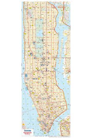Road Map Of Manhattan.Michelin Official New York City Road Map Poster Posters At