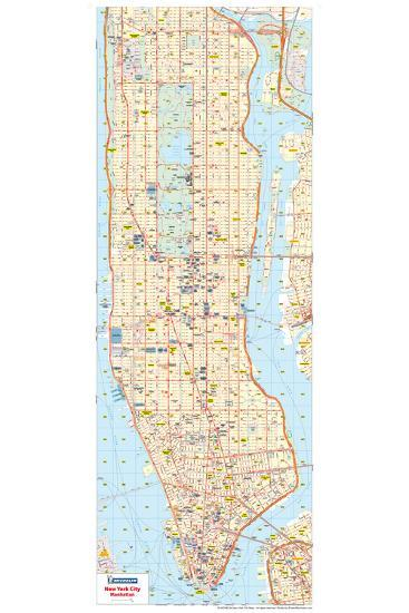 Michelin Official New York City Road Map Poster Posters At