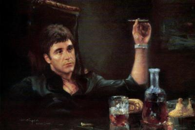 Al Pacino Scarface Smoking Cigar Movie Poster