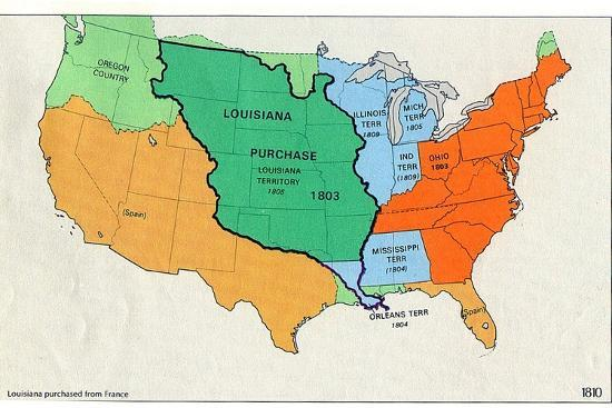 Map of United States (Territorial Growth, 1810)
