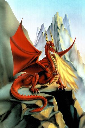 Sue Dawe Red Fire Dragon Fantasy