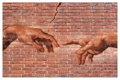 Creation of Adam Graffiti Art